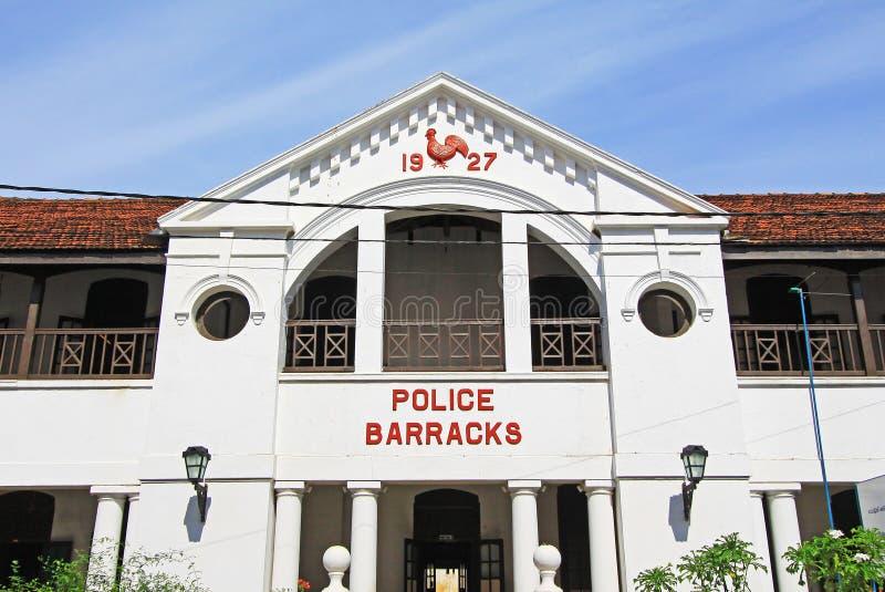De Politiebarracks- van het Gallefort ` s Oude de Werelderfenis van Unesco van Sri Lanka royalty-vrije stock afbeeldingen