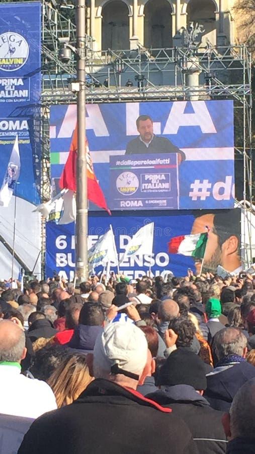 De politieke gebeurtenis Rome van Lega Nord stock afbeelding