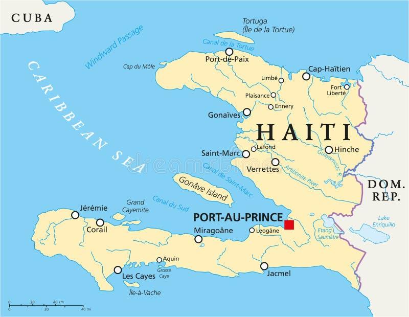 De politieke kaart van Haïti vector illustratie