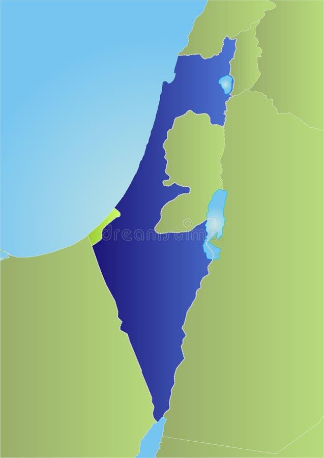 De politieke kaart van Israël royalty-vrije illustratie