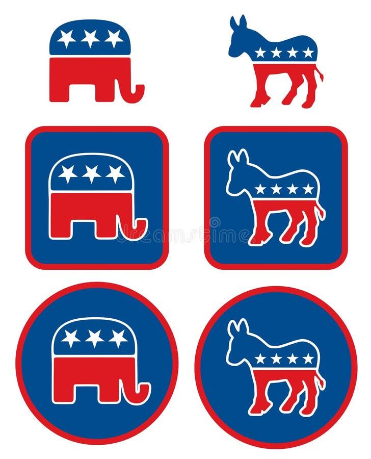 De politieke symbolen van de V stock illustratie