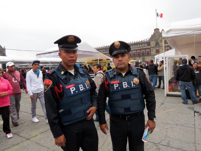 De Politiemannen van Mexico-City stock foto