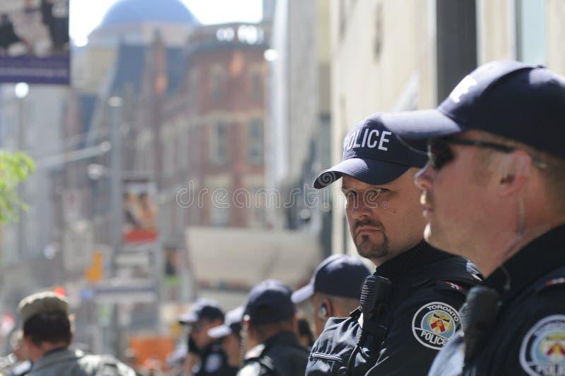 De politiemannen van Toronto. stock foto's