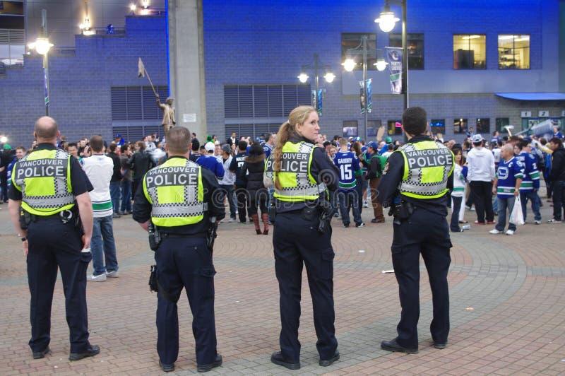 De politiemannen van Vancouver stock fotografie
