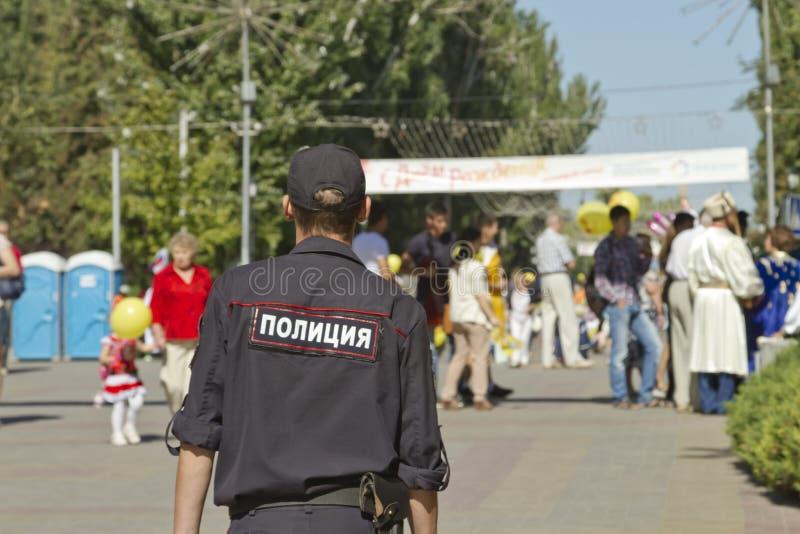 De politieuitrusting houdt orde en veiligheid royalty-vrije stock afbeeldingen