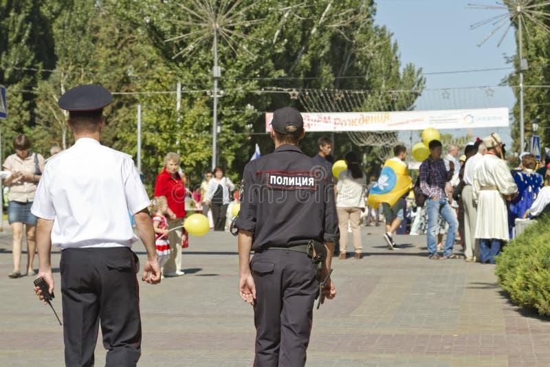 De politieuitrusting houdt orde en veiligheid stock fotografie