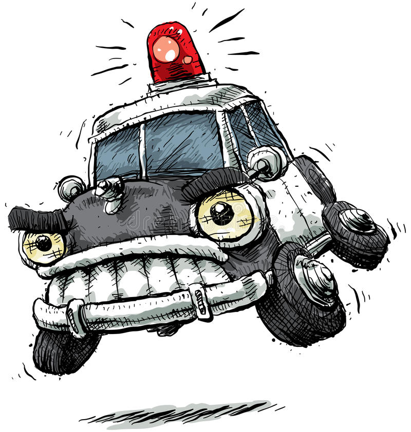 De Politiewagen van het beeldverhaal royalty-vrije illustratie