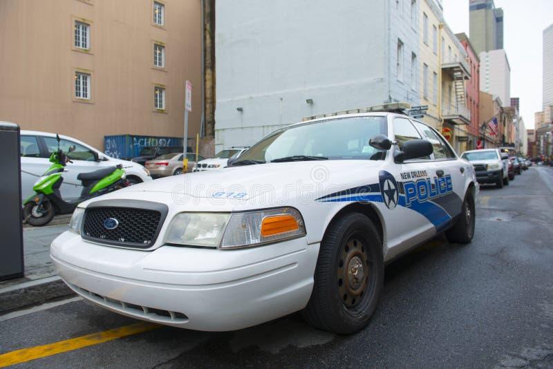 De Politiewagen van New Orleans in Frans Kwart, New Orleans stock afbeeldingen