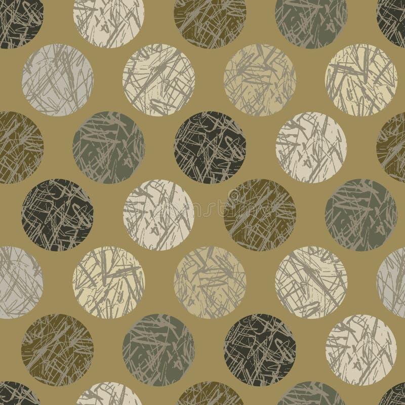 De Polka Dots Seamless Vector Pattern Background van de Camotextuur royalty-vrije illustratie