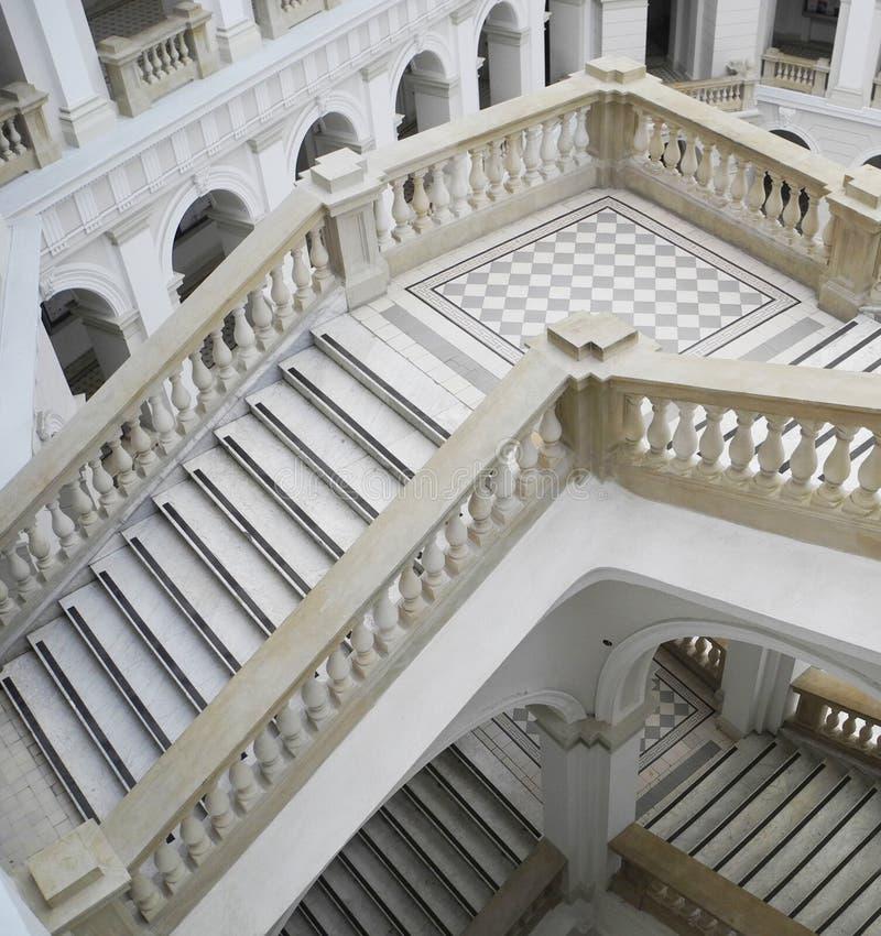 De Polytechnische school van trappenwarshau royalty-vrije stock foto's