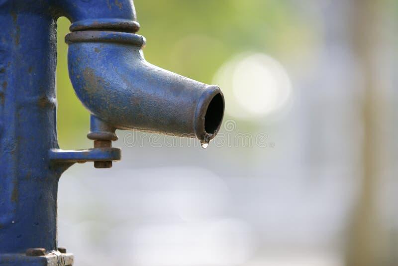 De pomp van het water stock afbeeldingen