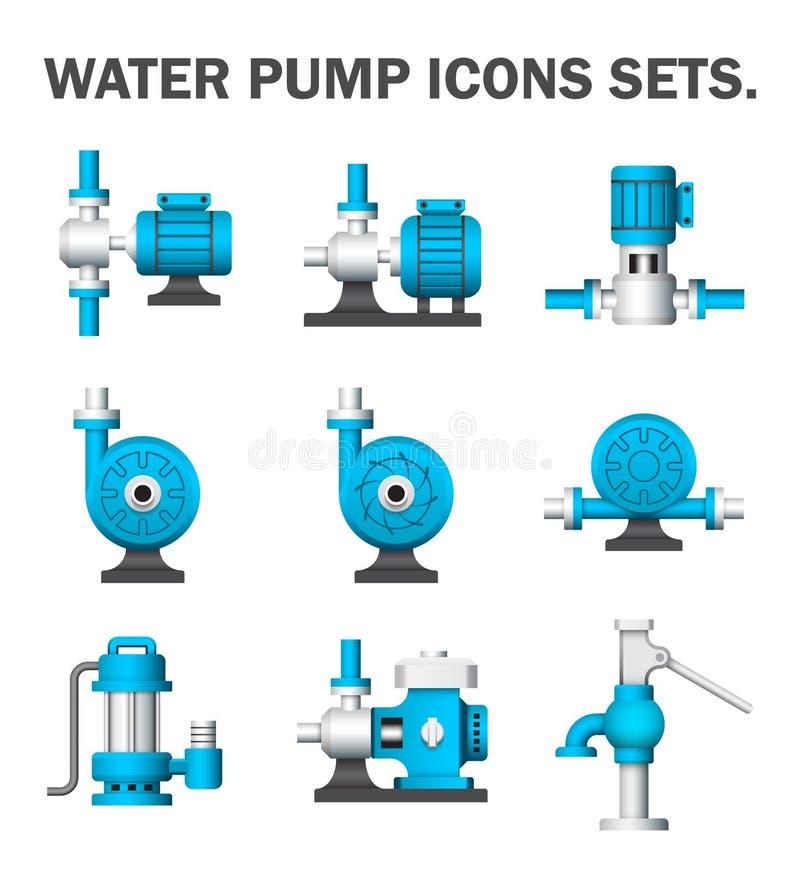 De pomp van het water royalty-vrije illustratie