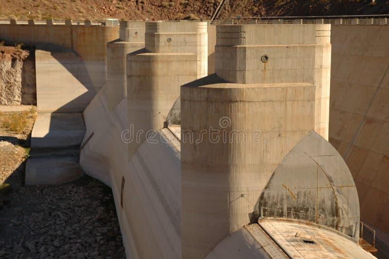 De Pompen van de Dam van Hoover stock foto