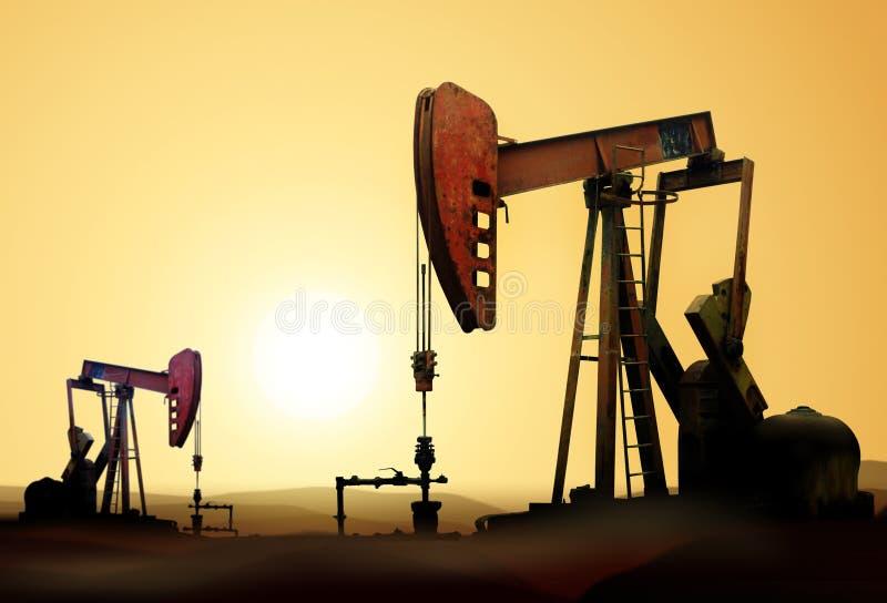 De pompen van de olie stock foto