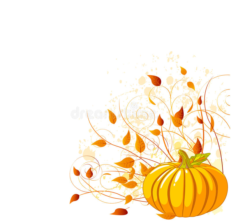 De Pompoen van de herfst royalty-vrije illustratie