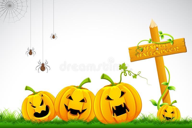 De Pompoen van Halloween royalty-vrije illustratie