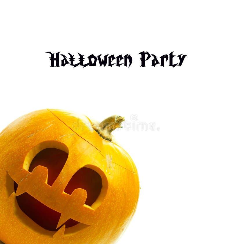 De pompoen van Halloween die op witte achtergrond wordt geïsoleerda royalty-vrije stock afbeeldingen