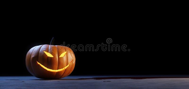De pompoen van de de hefboomo lantaarn van Halloween stock illustratie