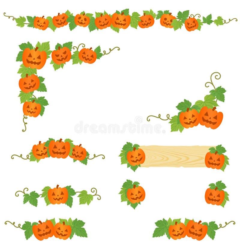De pompoendecoratie van Halloween royalty-vrije illustratie