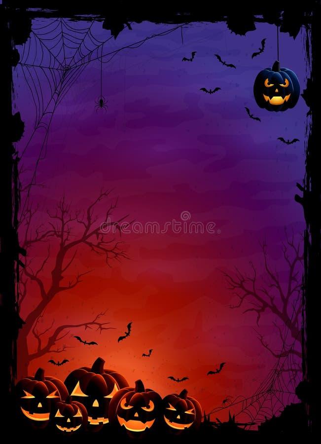 De pompoenen en de knuppels van Halloween vector illustratie