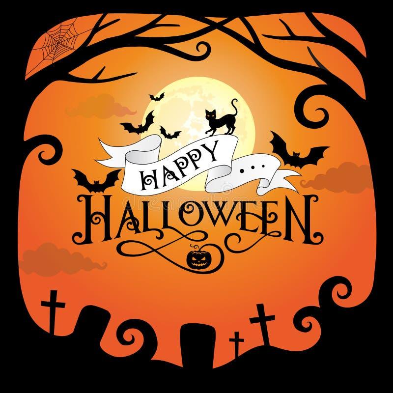 De pompoenen van de grensbladeren van Halloween royalty-vrije stock afbeelding