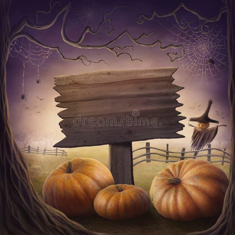 De pompoenen van Halloween