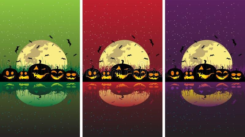 Download De Pompoenen Van Halloween Onder De Maan Vector Illustratie - Illustratie bestaande uit vakantie, achtergrond: 10777267
