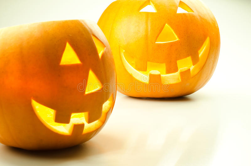 De pompoenlantaarns van Halloween stock afbeelding