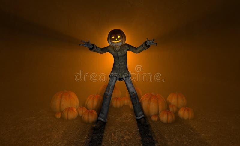 De Pompoenmens Van Halloween Stock Afbeelding