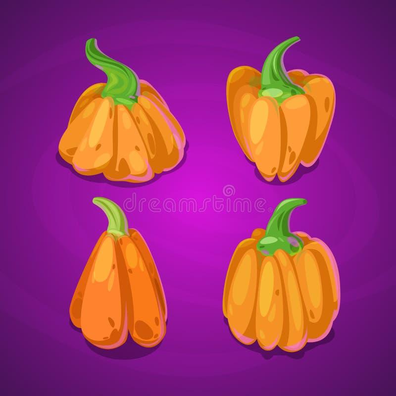 De pompoenreeks van Halloween stock foto's