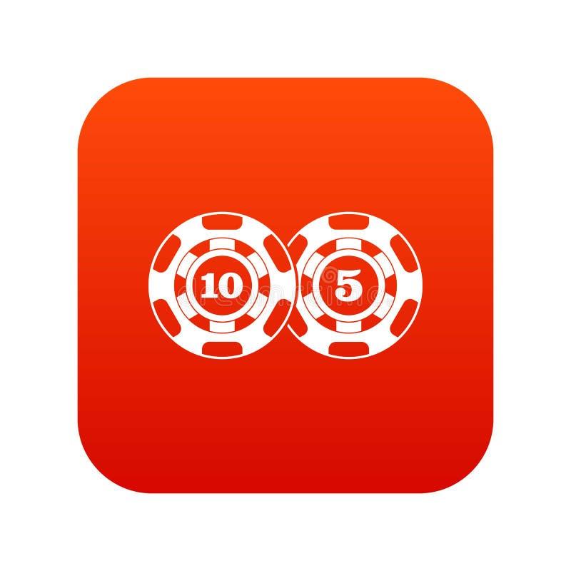 Download De Pook Breekt Nominaal Vijf Tien Pictogram Digitaal Rood Af Vector Illustratie - Illustratie bestaande uit gokken, pictogram: 107707417