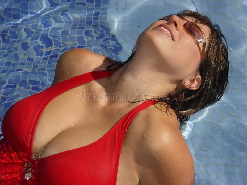 In de pool stock fotografie
