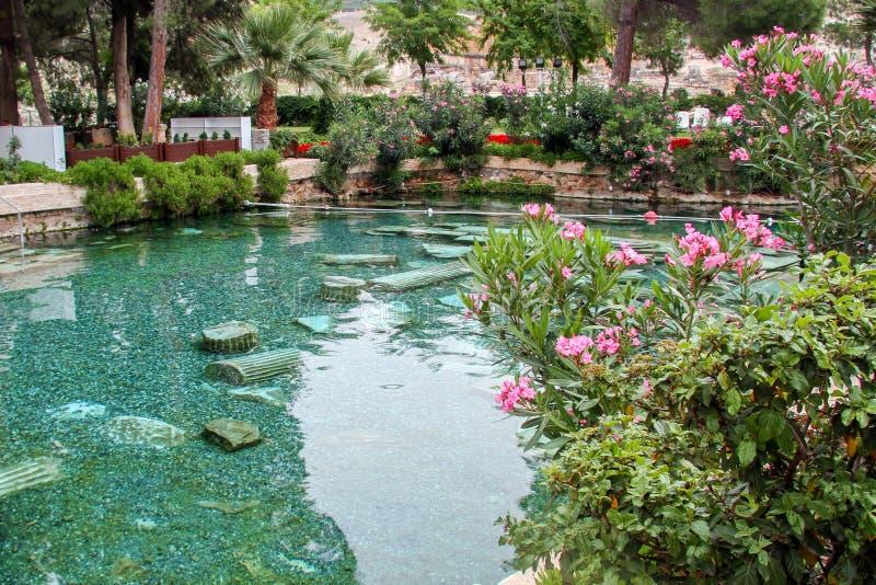 De pool van Cleopatra ` s in Turkije - het oude genoegen royalty-vrije stock foto's