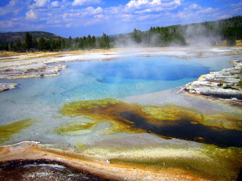 De Pool van de saffier, het Bassin van het Koekje, Yellowstone NP royalty-vrije stock foto's
