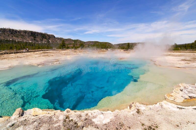 De Pool van de saffier, het Gele Nationale Park van de Steen stock foto
