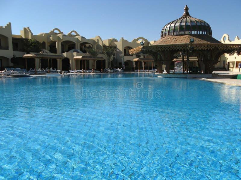 De pool van het hotel stock foto