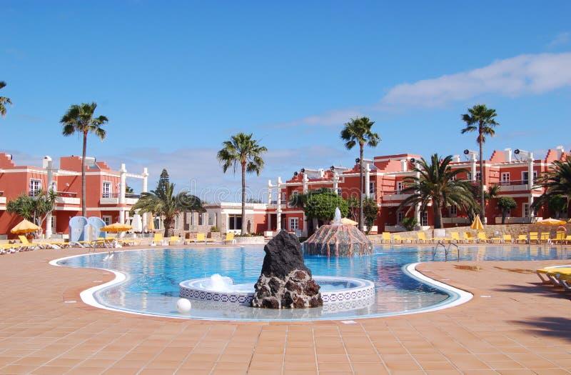 De pool van het hotel stock foto's
