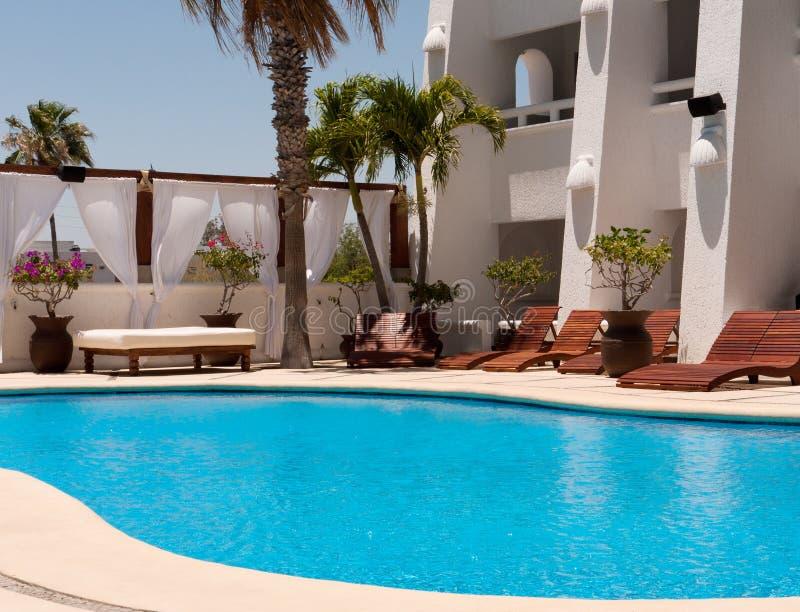 De pool van het hotel royalty-vrije stock foto