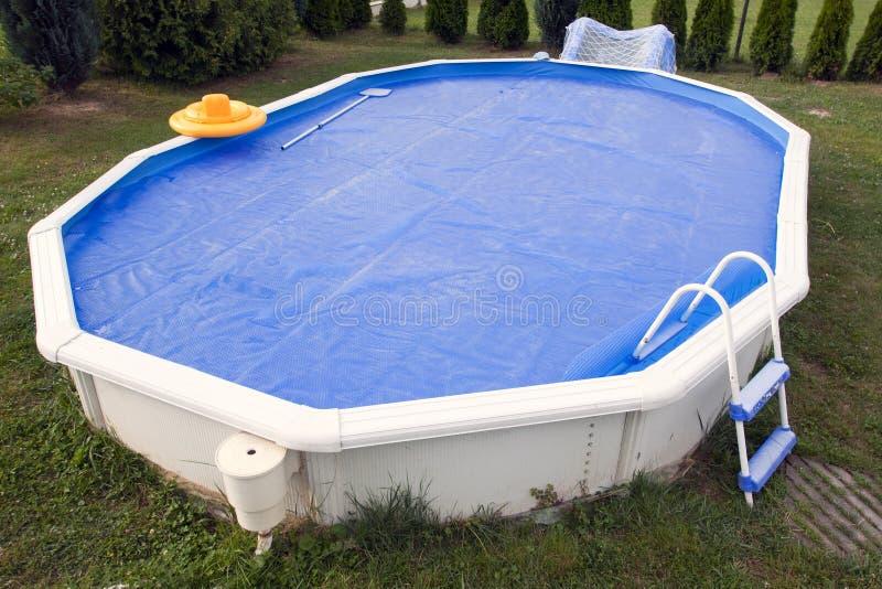 De pool van het huis stock foto