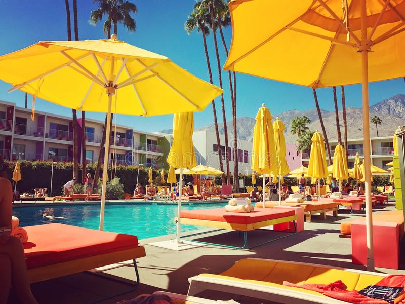 De Pool van het Saguarohotel royalty-vrije stock afbeeldingen