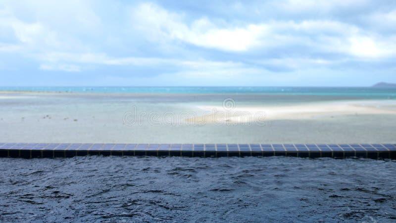 De pool van de reisvacation luxury spa Jacuzzi van Koh Samui Resort Hotel op de overzeese achtergrond De achtergrond van de vakan stock fotografie
