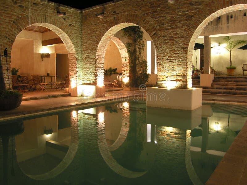 De pool van Sepulveda´s van Hacienda