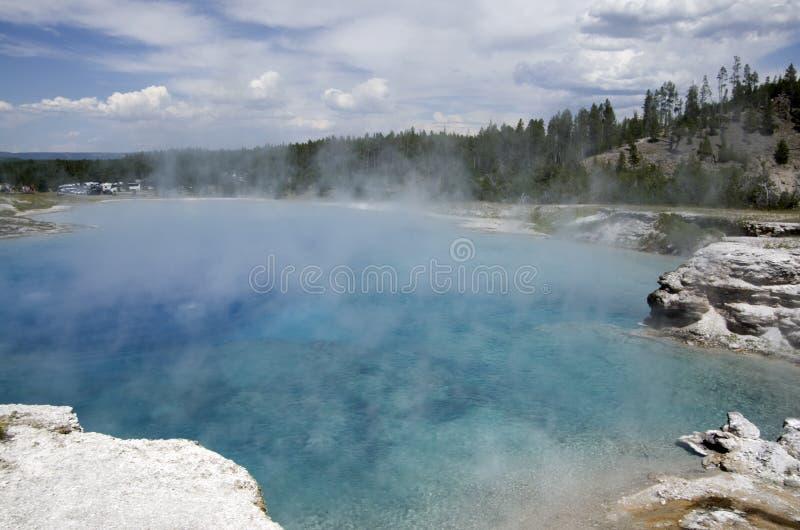 De pool van de Yellowstonespiegel stock afbeelding