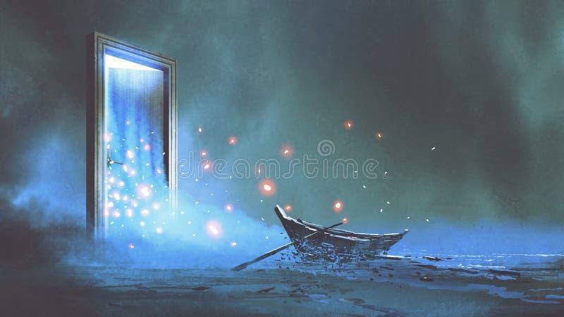 De poort aan een andere wereld vector illustratie