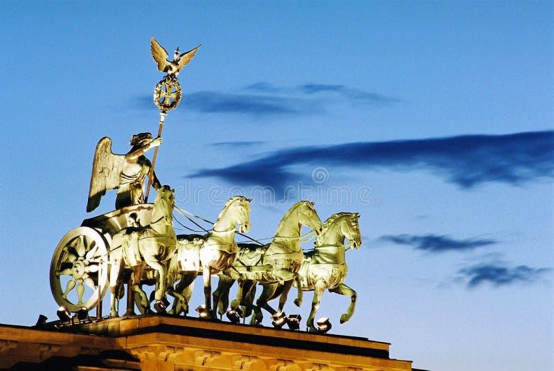 De Poort Berlijn 3 van Brandenburg stock foto