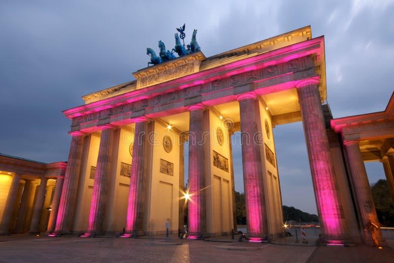 De Poort Berlijn van Brandenberg stock foto's