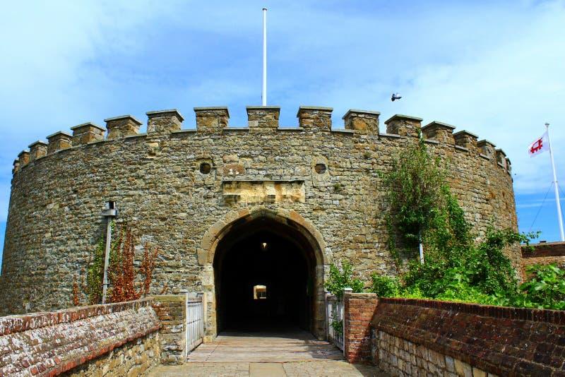De poort Kent United Kingdom van het overeenkomstenkasteel stock afbeelding