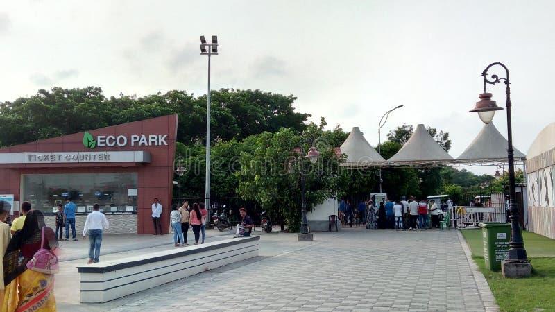 De poort nr 1, nieuwe stad, Kolkata, India van het Ecopark royalty-vrije stock afbeeldingen