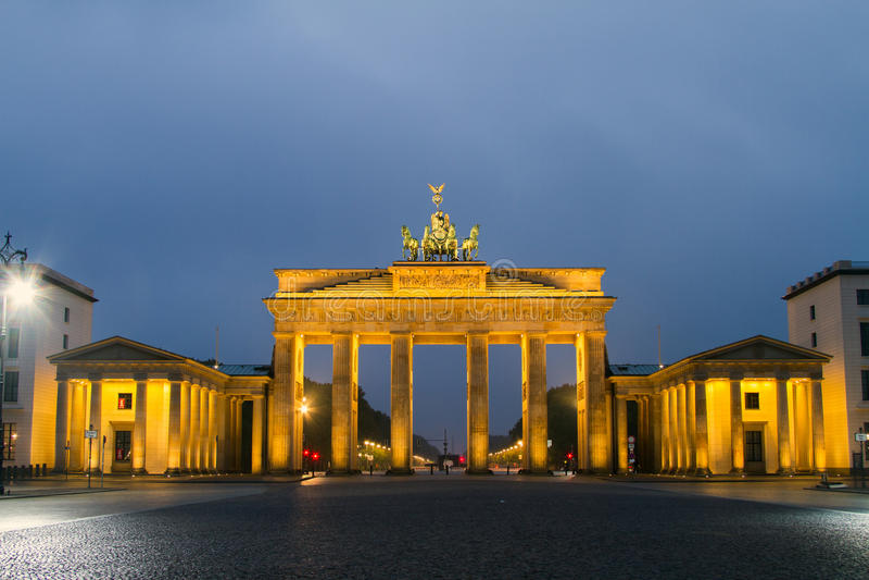 De Poort van Berlijn, Brandenburg royalty-vrije stock afbeeldingen