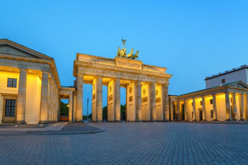 De poort van Berlijn Brandenburg stock fotografie